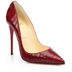 Christian Louboutin So Kate 120 Python Point-Toe Pumps
