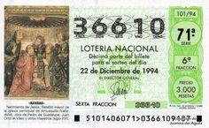 Décimo de Lotería de Navidad del año 1994 - «NAVIDAD» - NACIMIENTO DE JESUS