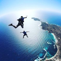 The best way to arrive on Rottnest - by parachute of course For the first time ever you can now skydive on Rottnest island with Skydive Geronimo. Get the most spectacular views of Rotto, Perth, Freo and beyond. Paris one of the wonders of the world Australia Travel, Western Australia, Adventure Awaits, Adventure Travel, Adventure Photos, Places To Travel, Places To See, Kayak, Paragliding