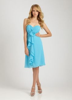 blue sweetheart short bridesmaid dress--THIS IS THE COLOR I WANT!!!!