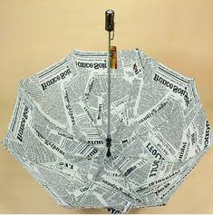 Newspapers Patterned Folding Umbrella