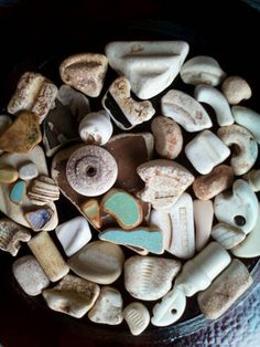 Sea pottery - I have a collection of pretty sea-worn tiles from Italy