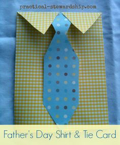 DIY Father's Day Dress Shirt and Tie Card