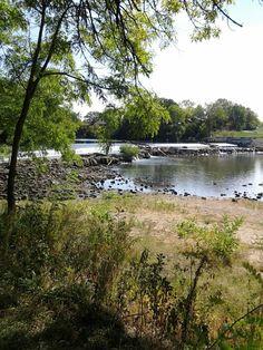 Pretty scenery. Dam in Belvidere, Illinois.