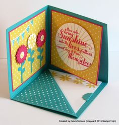 Flower Patch and Fun Fold Pop Up Card : Deb's Stampin' Grounds.... (a place that inspires creativity in others)
