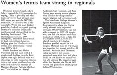 Oregon women's tennis 1977-78. From the 1978 Oregana (University of Oregon yearbook). www.CampusAttic.com