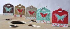 Ballotins perforatrice tag festonnée Marie Meyer Stampin up - http://ateliers-scrapbooking.fr/