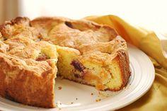 Peach-and-Plum Saffron Almond Cake by Alejandra of Always Order Dessert, via Flickr