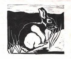 Rabbit - Original Linocut