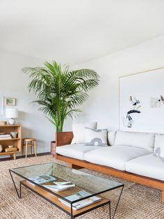 Boho Beach Bungalow: Mel's Serene Living Room