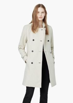 Double-breasted wool coat - Coats for Women | MANGO USA