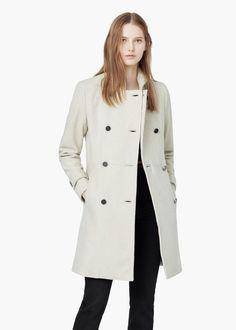 Double-breasted wool coat - Coats for Women | MANGO USA
