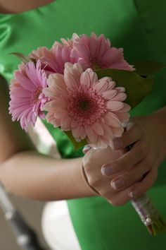 gerbera daisies.. will be orange though for the BMs  @Brenda Norman