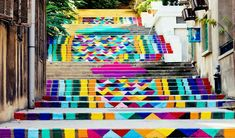 Amazing stairs street art around the world. Amazing stairs street art around the world. Stair Art, Stair Decor, Beautiful Streets, World's Most Beautiful, Home Office Design, House Design, Office Designs, Porch Furniture, Furniture Ideas