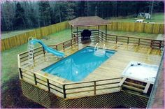 Swiming Pools Funky Above Ground Pool Deck Ideas With Simple Portable Pools With Hand Rails Also Pool Spa And In Ground Ladders Besides Above Ground Pool Wooden Fence Deck Flooring Options Outdoor Design Above Ground Pool Deck Ideas