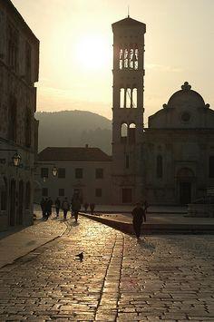 Hvar main square, Croatia. http://www.lonelyplanet.com/croatia/hvar-island