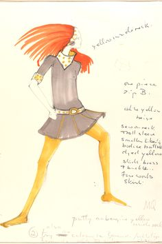 Mary Quant - Fashion Drawing & Illustration: 1960s - Victoria and Albert Museum