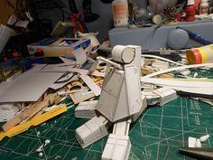 The assembled lower leg.