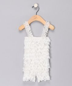 Take a look at this White Lace Romper by My Chloe Ann on #zulily today!
