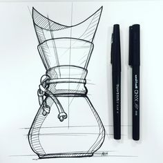 One of my favorite pour overs Sketch Design, Ad Design, Graphic Design, Sketch Inspiration, Design Inspiration, Coffee Artwork, Isometric Drawing, Sketching Techniques, Object Drawing