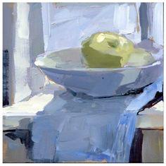 유 Still Life Brushstrokes 유 Nature Morte Paintings - The Very Hungry Bowl painting by artist Lisa Daria Kennedy