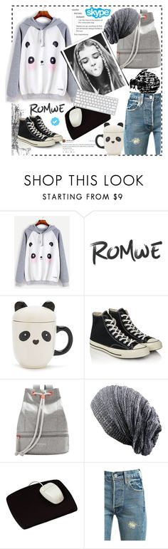 """Romwe"" by natalyapril1976 on Polyvore featuring Mode, Tim Holtz, Forever 21, Converse, MANGO, Royce Leather und Levi's"