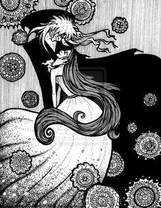 Jareth (the Goblin King) and Sarah, Labyrinth