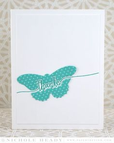 Butterfly Thanks Card (Nichole Heady)