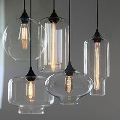 Stunning Modern Industrial Designer Style Glass Pendant lamps ideal for Modern & Retro Interiors. Globe Glass Pendant Lamp : Dimensions: Glass Shade Diameter: 25cm. Ceiling Lamps. Lampara Pendant Lamp : Dimensions: Glass Shade Diameter: 18cm x 31cm Height. | eBay!