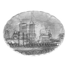 Wendell August Forge Indianapolis Cityscape Oval Dish Small -- Read more reviews of the product by visiting the link on the image.  This link participates in Amazon Service LLC Associates Program, a program designed to let participant earn advertising fees by advertising and linking to Amazon.com.
