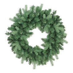 24 Coniferous Mixed Pine (Green) Artificial Christmas Wreath - Unlit
