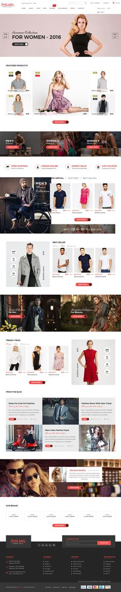 Jhilmil is a clean and elegant design #eCommerce #Bootstarp #Template for multipurpose online shop website. It comes in 2 homepage version.