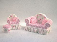 1/4 Scale Roses & Gingham Set by bluecrystal28 on Etsy