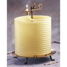 Candle by the Hour 144-Hour Beeswax Coil Candle