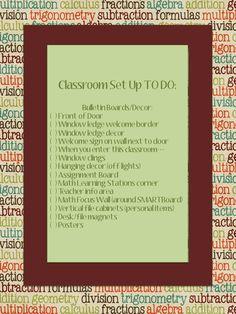 Checklist for Preparing for School