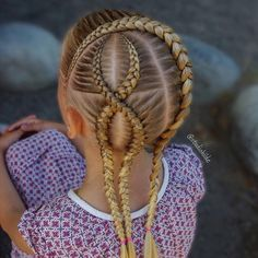 Fun and Beautiful Braided Hairstyles – HerHairdos Ethnic Hairstyles, Kids Braided Hairstyles, Trendy Hairstyles, Prom Hairstyles, School Hairstyles, Updo Hairstyle, Braided Updo, Cute Little Girl Hairstyles, Baby Girl Hairstyles