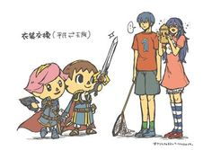 Animal Crossing x Fire Emblem crossover via arielflare