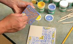 Embossing with Clay and Underglazes Using Balsa-Foam®