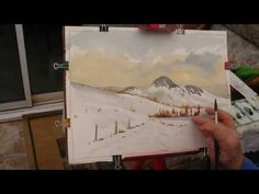Watercoloring class one - YouTube