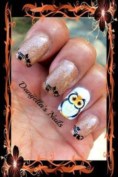 160 best Owl Nail Art images on Pinterest   Owl nail art ...