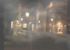 """London Fog""  @Lynn Bonn  #fog, #England, #Epcot, #Disney, #Florida, #Night photography"