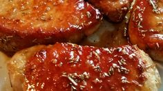 Pork chops with a glossy apple cider glaze is really easy, and while ...