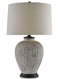 Currey and Company Richmond Table Lamp. The texture of aged earthenware, the Richmond lamp is like a finely crafted piece of pottery. The bone white terra. Table Lamp Base, Lamp Bases, Table Lamps, Light Table, Desk Lamp, Decorative Floor Lamps, House Furniture Design, Office Furniture, Tiffany Lamps