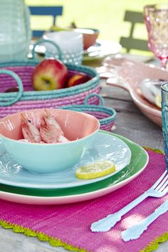 Rice by Rice Danish Interior Design, Ceramic Tableware, Happy Colors, Kitchen Colors, Kitchen Utensils, Ss16, Denmark, Table Settings, Rice