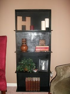 Dresser Drawers made into a Bookcase!