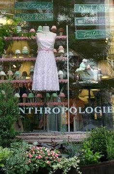 Love this store... #anthropologie #shop #window #store #display #dress #ice #cream
