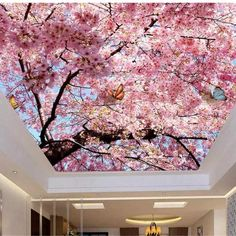 Custom Size Ceiling Mural Cherry Flower Blue Sky (㎡) - Best of Wallpapers for Andriod and ios Wallpaper Ceiling, Ceiling Murals, Wall Art Wallpaper, Custom Wallpaper, Flower Wallpaper, Wall Murals, Wallpaper Desktop, Girl Wallpaper, Disney Wallpaper