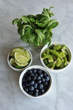 kiwi blueberry mojit