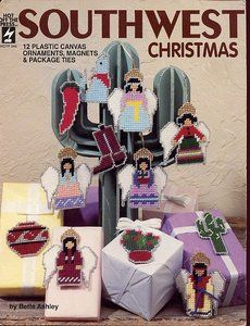 Free Plastic Canvas Magnet Patterns | ... Christmas Ornaments Magnets Package Ties Plastic Canvas Pattern | eBay