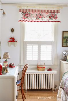 Ranger 911 Cute Curtains, Valance Curtains, Red Cottage, Red Rooms, Big Girl Rooms, Spare Room, Vintage Home Decor, Girls Bedroom, Sweet Home